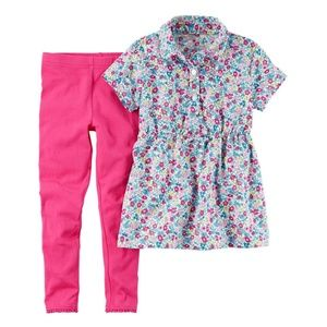Carter's Floral Tunic and Leggings Set size 5